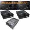 (2) Denon DJ VL12 Prime Direct Drive Turntables and X1800
