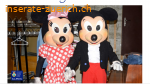 Mascotte Disney Minnie und Mickey Mouse